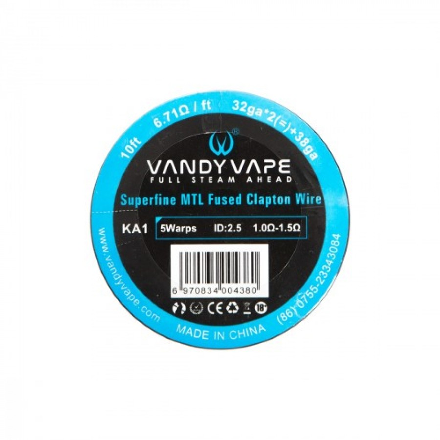 Vandy Vape - Superfine MTL Fused CLapton Wire KA1 32GA*2+38GA