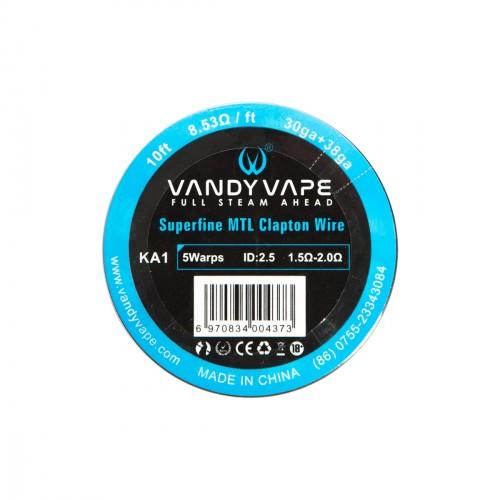 Vandy vape - Superfine MTL Fused CLapton Wire KA1 30GA+38GA