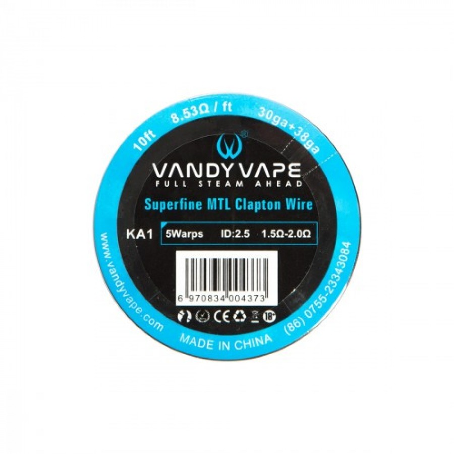 Vandy vape - Superfine MTL Fused CLapton Wire KA1 30GA+38GA